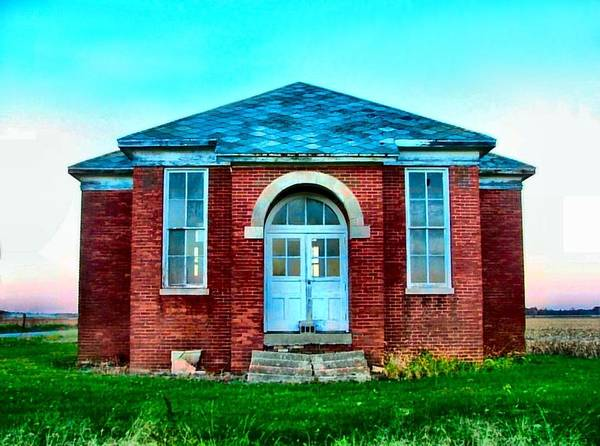 Schools Poster featuring the photograph Old Schoolhouse by Julie Dant