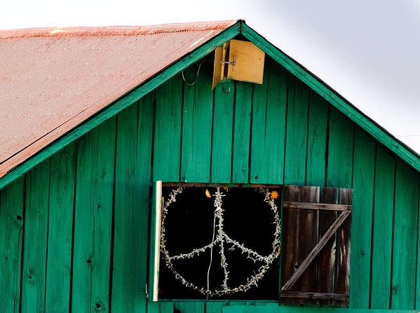 Bliss Poster featuring the photograph Peace Barn by Bill Gallagher