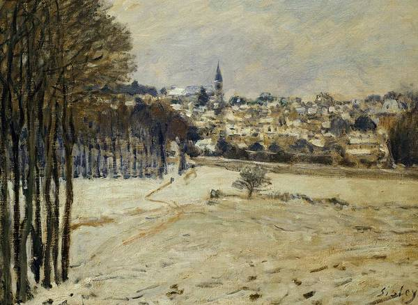Art; Painting; Sisley Alfred; Snow; Winter; Impressionism Poster featuring the painting Snow At Marly-le-roi by Alfred Sisley