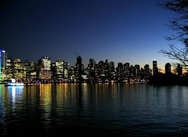 Vancouver Skyline Poster featuring the photograph Vancouver Skyline by Will Borden