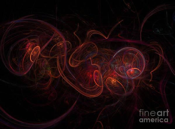 Background Poster featuring the digital art Fractal by Henrik Lehnerer
