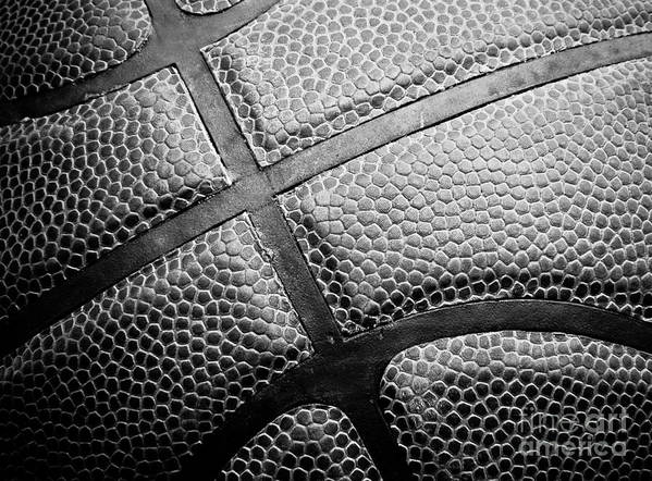 Background Poster featuring the photograph Basketball -black And White by Ben Haslam