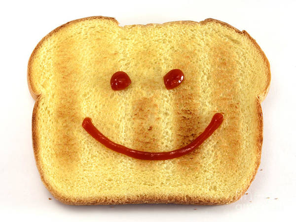 Bread Poster featuring the photograph Bread With Happy Face by Blink Images