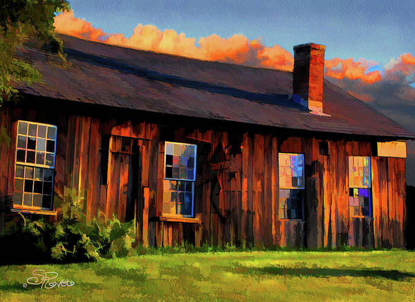 Shed Poster featuring the painting Farrier's Shed by Suni Roveto