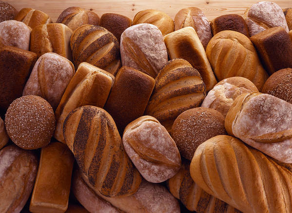 Horizontal Poster featuring the photograph Fresh Bread Loaves by Terry Mccormick