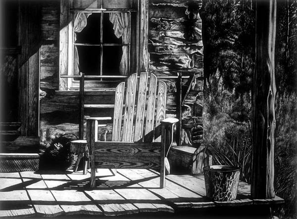 Porch Poster featuring the drawing Front Porch by Jerry Winick