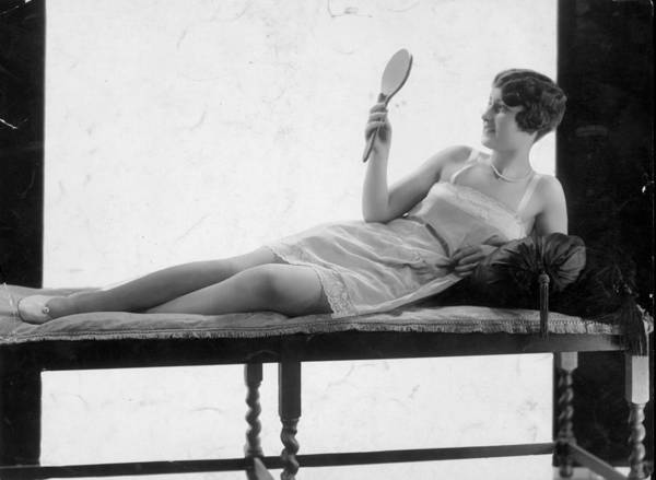 Mid Adult Poster featuring the photograph Hand Mirror by General Photographic Agency