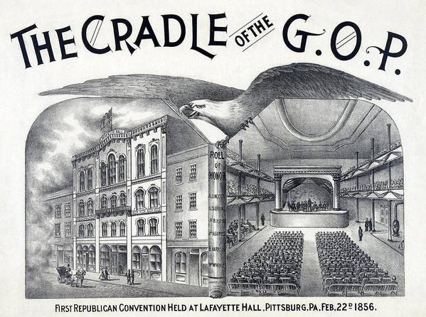 History Poster featuring the photograph Lafayette Hall, Pittsburgh, Pa Where by Everett
