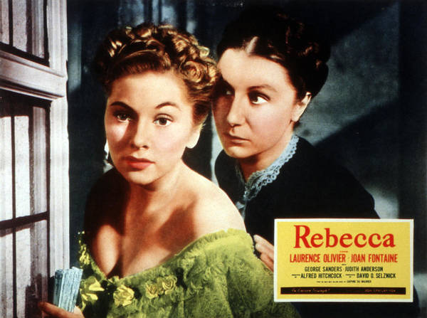 1940 Movies Poster featuring the photograph Rebecca, From Left Joan Fontaine by Everett