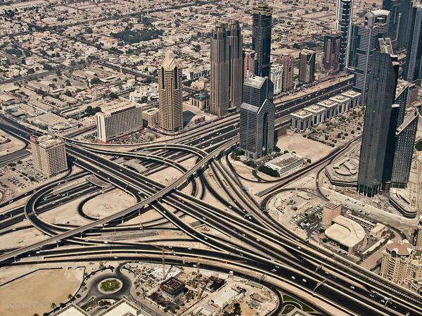 Horizontal Poster featuring the photograph View Of Burj Khalifa by Luc V. de Zeeuw