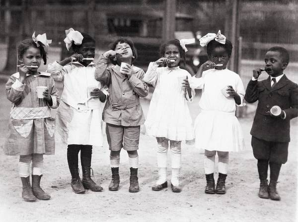 History Poster featuring the photograph African American First Graders Learn by Everett