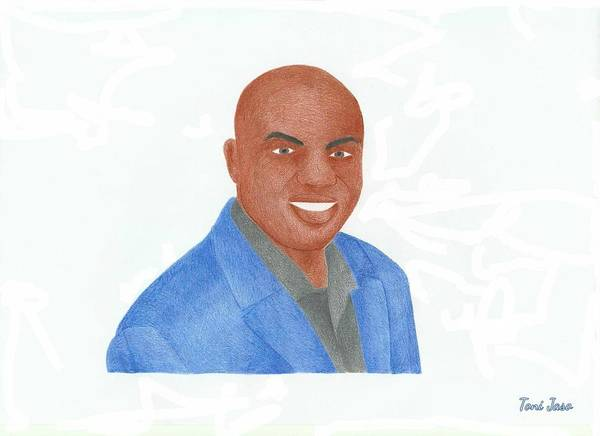 Charles Barkley Poster featuring the drawing Charles Barkley by Toni Jaso