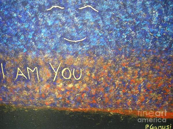 Spiritual Poster featuring the painting I Am You by Piercarla Garusi