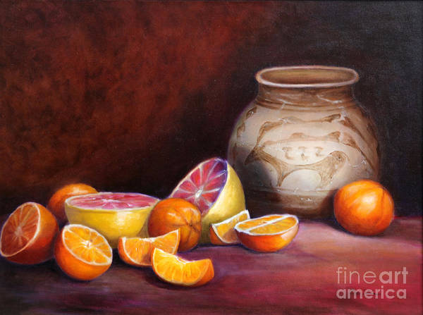 Still Life Paintings Poster featuring the painting Iranian Still Life by Enzie Shahmiri