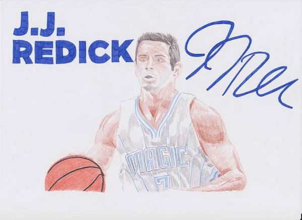 Jj Poster featuring the drawing J.j Redick by Toni Jaso