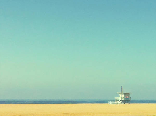 Horizontal Poster featuring the photograph Life Guard Tower by Denise Taylor
