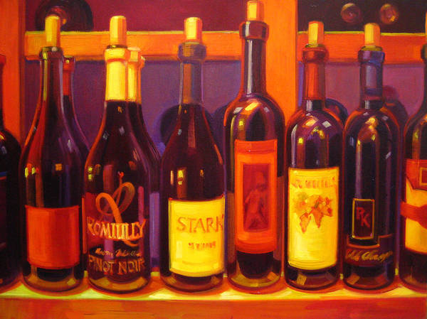 Wine Painting Poster featuring the painting Lush by Penelope Moore