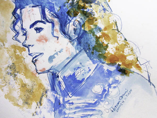 Michael Jackson Poster featuring the painting Michael Jackson - Bless You by Hitomi Osanai