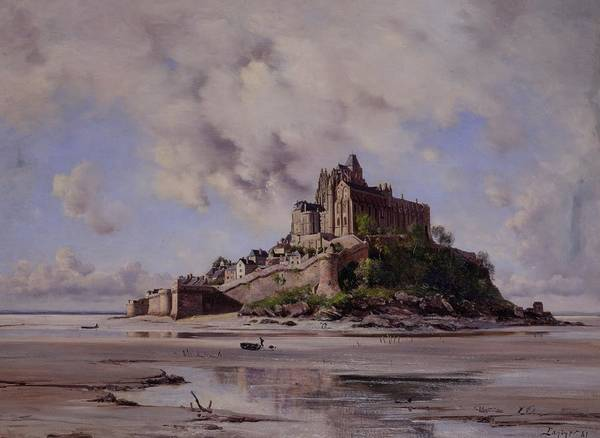 Mont Saint-michel Poster featuring the painting Mont Saint Michel by Emmanuel Lansyer