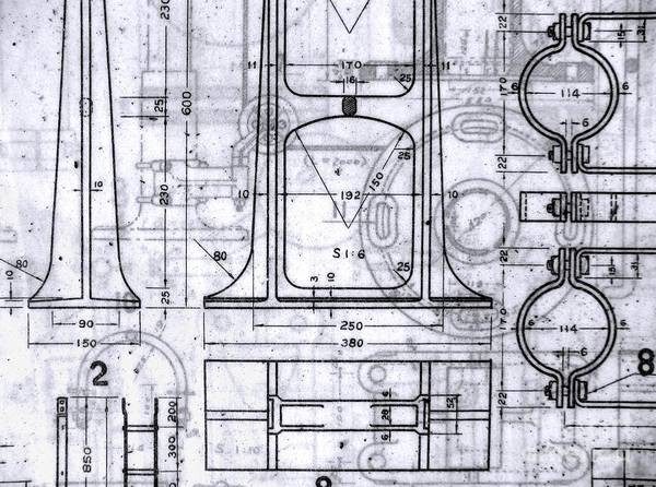 Blueprint Poster featuring the photograph Old Blueprints by Yali Shi