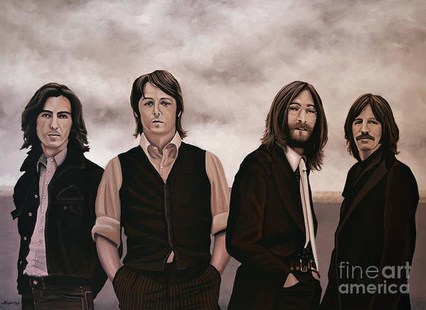 The Beatles Poster featuring the painting The Beatles by Paul Meijering
