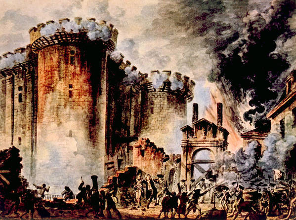 1700s Poster featuring the photograph The Storming Of The Bastille, Paris by Everett