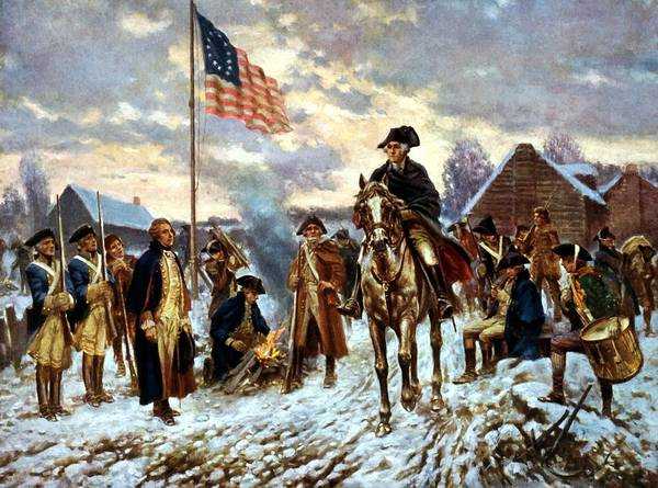 George Washington Poster featuring the painting Washington At Valley Forge by War Is Hell Store