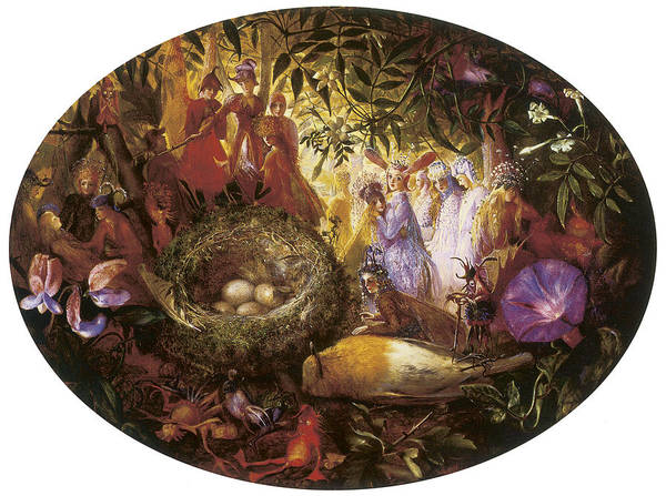 John Anster Fitzgerald Poster featuring the painting Who Killed Cock Robin by John Anster Fitzgerald