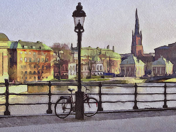 Stockholm Poster featuring the digital art Stockholm 6 by Yury Malkov