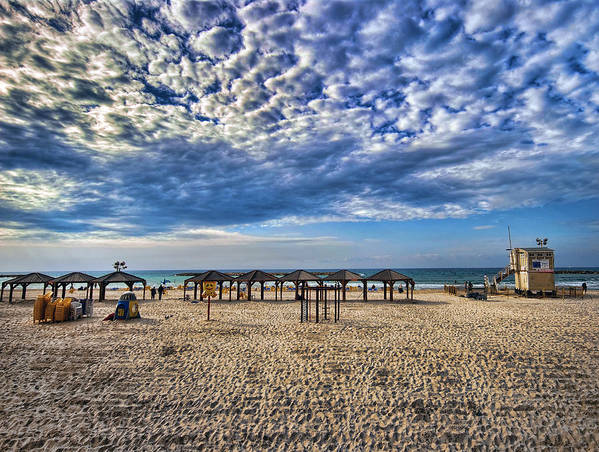 Israel Poster featuring the photograph a good morning from Jerusalem beach by Ron Shoshani