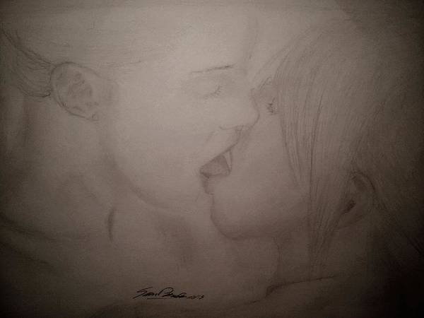 Nature Poster featuring the drawing A Kiss by Samuel Palibroda