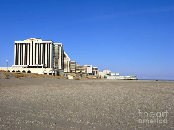 Atlantic City Poster featuring the photograph Atlantic City New Jersey by Olivier Le Queinec