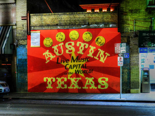 Austin Poster featuring the photograph Austin Hdr 006 by Lance Vaughn