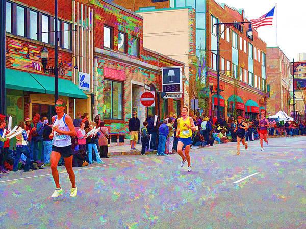 Marathon Poster featuring the photograph Boston Marathon Mile Twenty Two by Barbara McDevitt