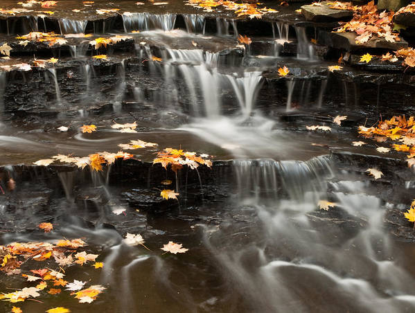 Buttermilk Falls Poster featuring the photograph Buttermilk Falls by Shannon Workman