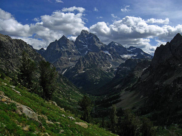 Grand Teton Poster featuring the photograph Cascade Canyon North Fork by Raymond Salani III