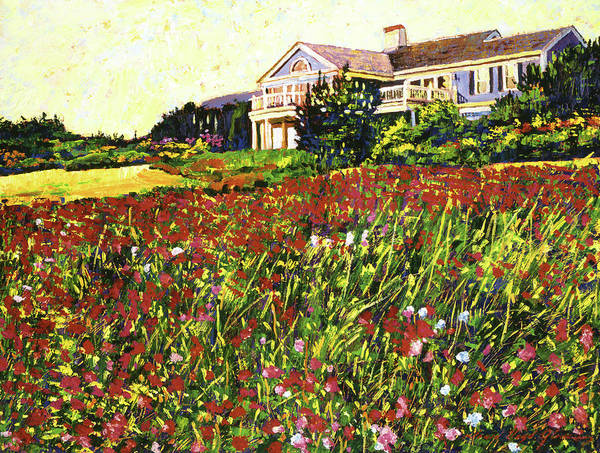 Palette Knife Poster featuring the painting Early Evening At Cape Cod by David Lloyd Glover