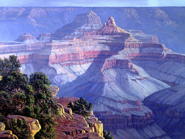 Grand Canyon Poster featuring the painting Grand Canyon by Randy Follis