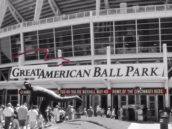 Great American Ball Park And The Cincinnati Reds Poster featuring the photograph Great American Ball Park And The Cincinnati Reds by Dan Sproul