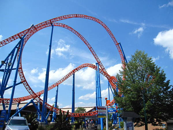 Hershey Poster featuring the photograph Hershey Park - Storm Runner Roller Coaster - 12125 by DC Photographer