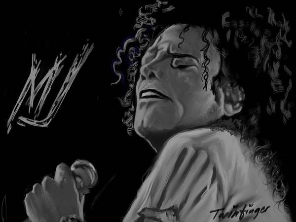 Michael Jackson Poster featuring the painting King Of Pop by Twinfinger