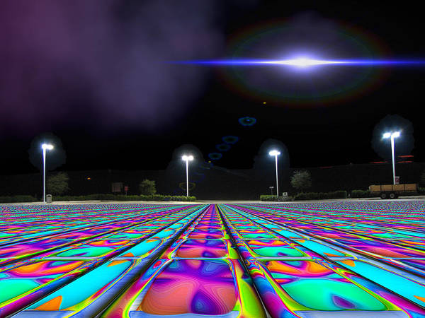 Ufo Poster featuring the digital art Landing Pad 5 A M by Wendy J St Christopher