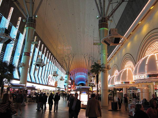 Las Poster featuring the photograph Las Vegas - Fremont Street Experience - 12126 by DC Photographer