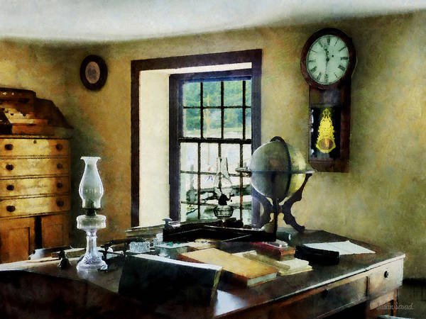 Lawyer Poster featuring the photograph Lawyer - Globe Books And Lamps by Susan Savad
