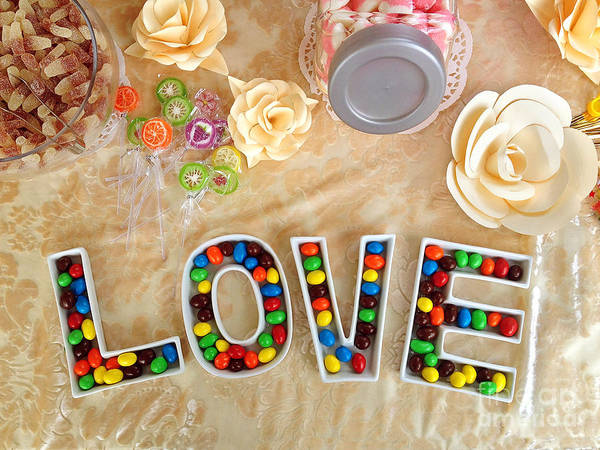 Love Poster featuring the photograph Love Candies by Lars Ruecker