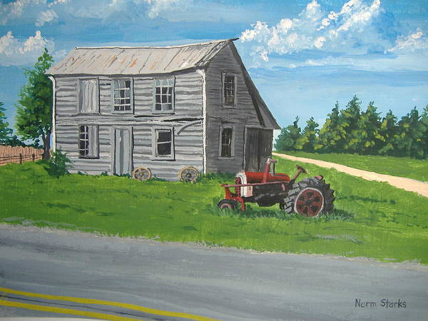 Farmhouse Poster featuring the painting Memories... by Norm Starks