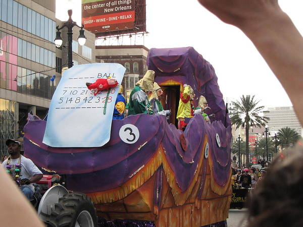 New Poster featuring the photograph New Orleans - Mardi Gras Parades - 121228 by DC Photographer