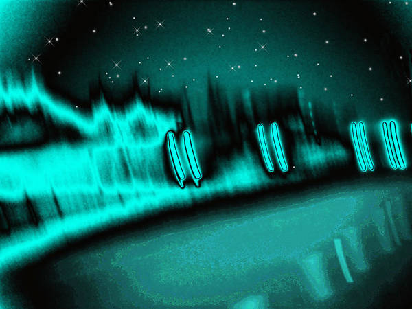 Abstract Poster featuring the digital art Nightwalkers by Wendy J St Christopher