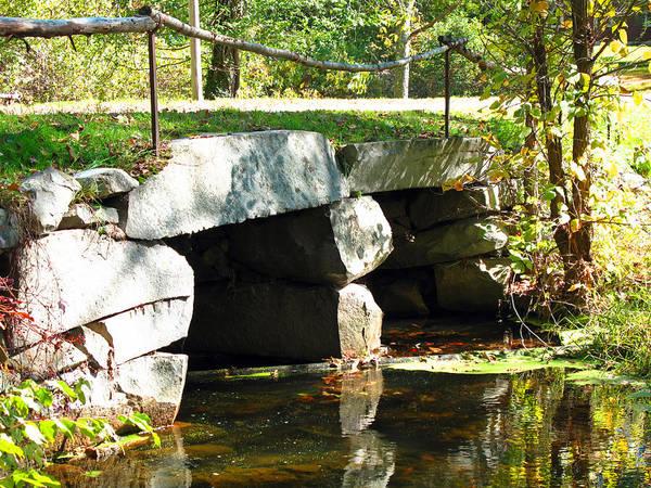 Bridge Poster featuring the photograph Old Stone Bridge by Barbara McDevitt