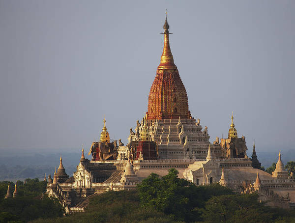 Outdoors Poster featuring the photograph Pagoda In Bagan, Upper Burma Myanmar by Chris Caldicott